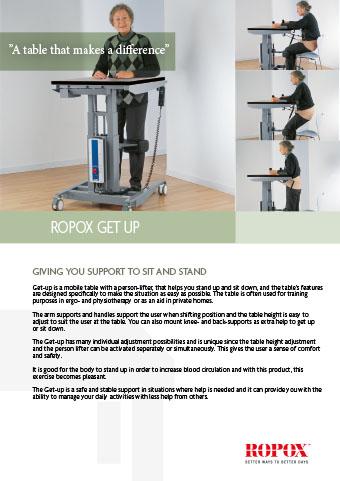 Data leaflet Ropox Get Up Table