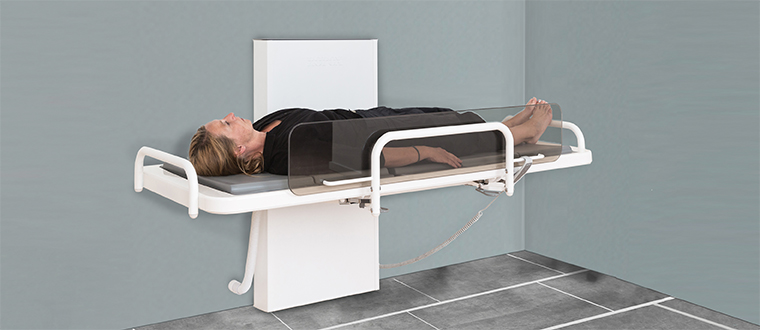 shower/changing bed / Bruseleje with user example