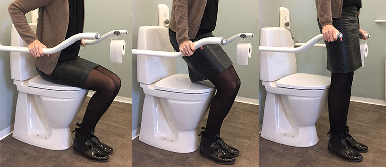 Toilet Support Arms / Toiletstøtter step by step