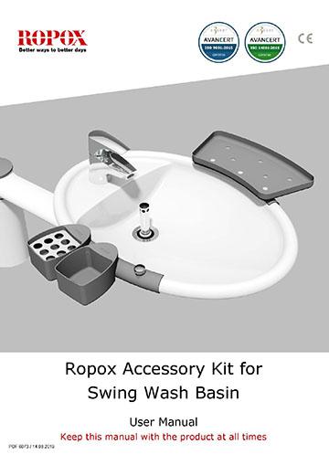 Ropox user & mounting manual - Swing Washbasin accessory kit