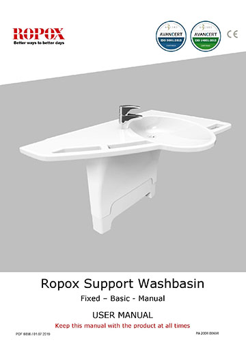 Ropox user manual - Support Washbasin Fixed-Basic-Manual