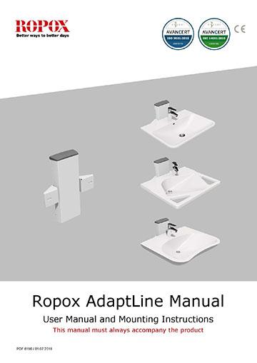 Ropox user manual and mounting instruction - AdaptLine Washbasin