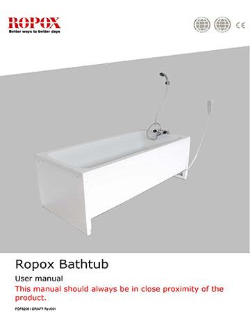 Ropox user manual & mounting instructions - Bathtub