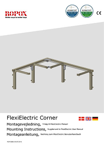 Ropox user & mounting manuel - FlexiCorner Electric addition