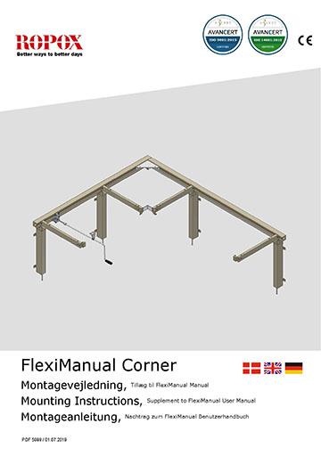 Ropox user & mounting manual - FlexiCorner Manual Addition