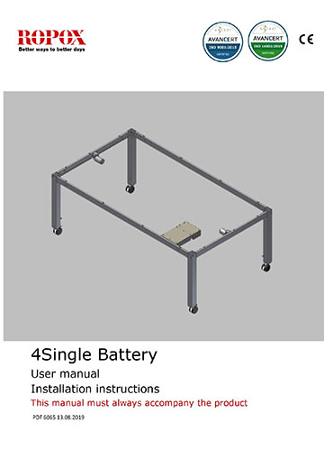 Ropox user & mounting manual - 4Single Battery