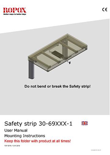 Ropox user & mounting manual - Safety strip