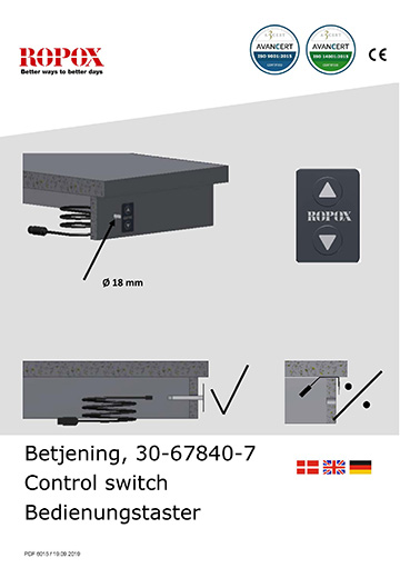 Ropox user & mounting manual - Control switch