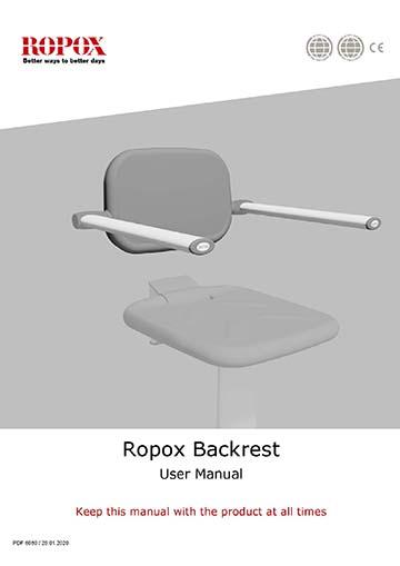 Ropox user manual - Backrest for Shower Seat