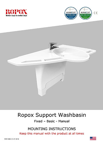 Ropox user manual - Support washbasin US