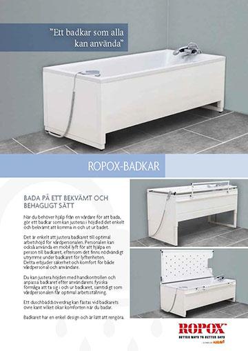 Datablad Ropox Badkar