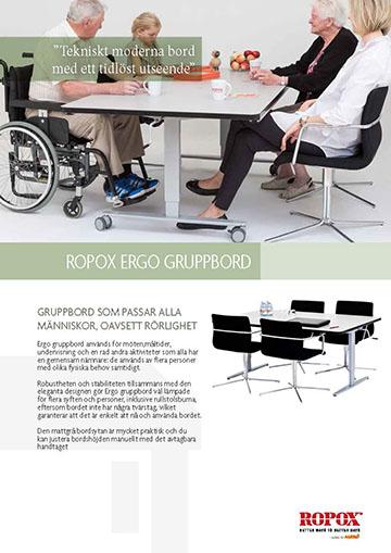 Datablad Ropox Ergo Gruppbord