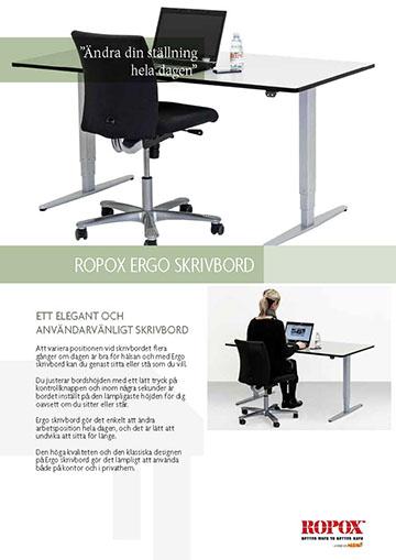 Datablad Ropox Ergo Skrivbord