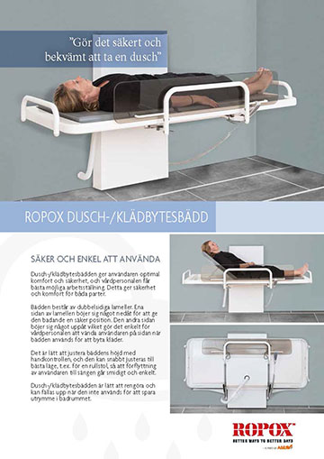 Data leaflet Ropox Shower/Changing Bed