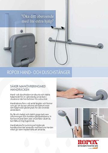 Datablad Ropox Grepp- och duschstänger