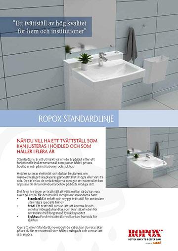 Datablad Ropox StandardLine Tvättställ