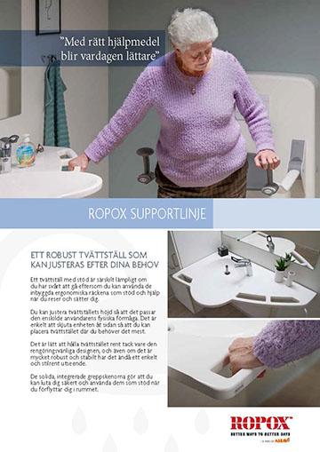 Datablad Ropox SupportLine Tvättställ