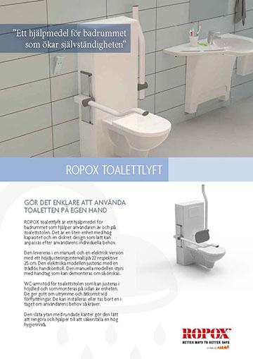 Datablad Ropox Toalettlyft