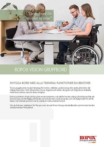 Datablad Ropox Vision Gruppbord