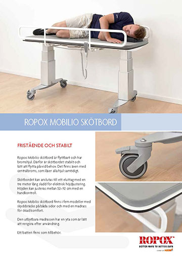 Datablad Ropox Mobilio Skötbord