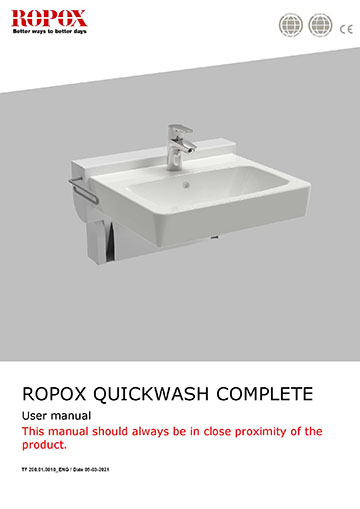 Ropox user manual - QuickWash